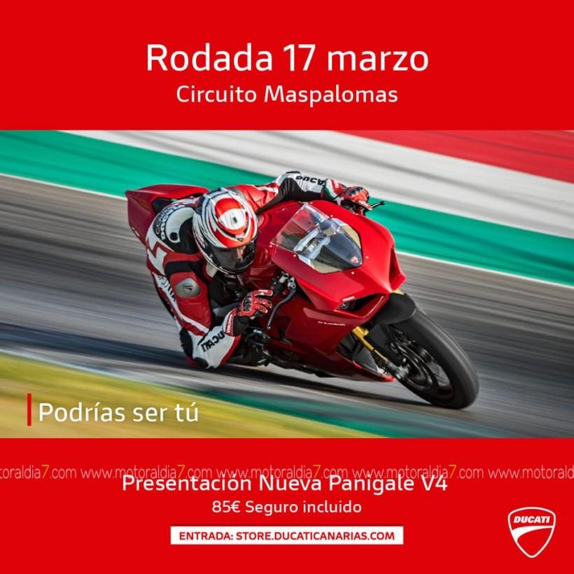Nueva Ducati Panigale V4 en el Circuito de Maspalomas