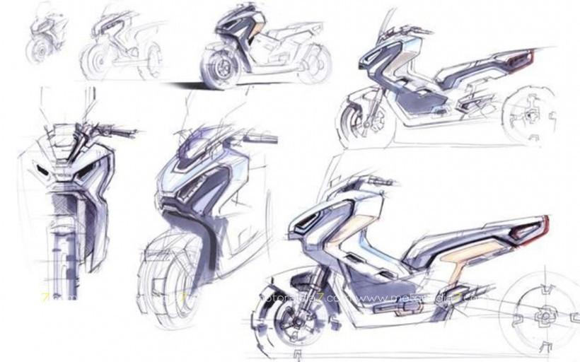 La nueva Honda X-ADV, convertida en arte