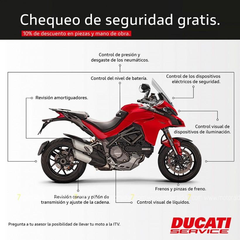 Tu Ducati a punto con el chequeo de seguridad gratis