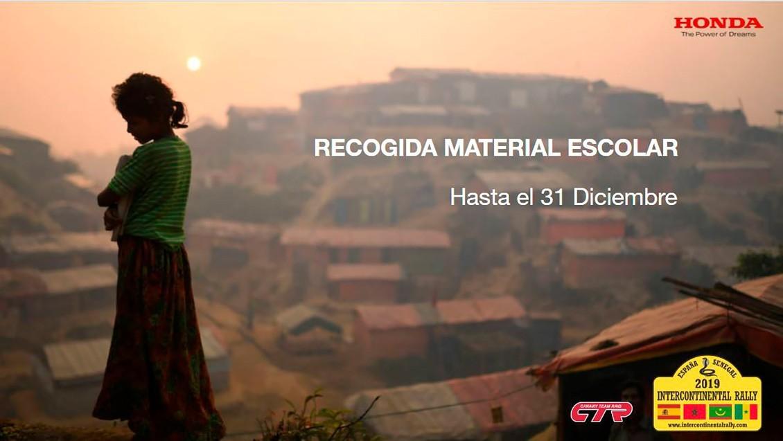 Honda Canarias recoge material escolar para los niños de Marruecos