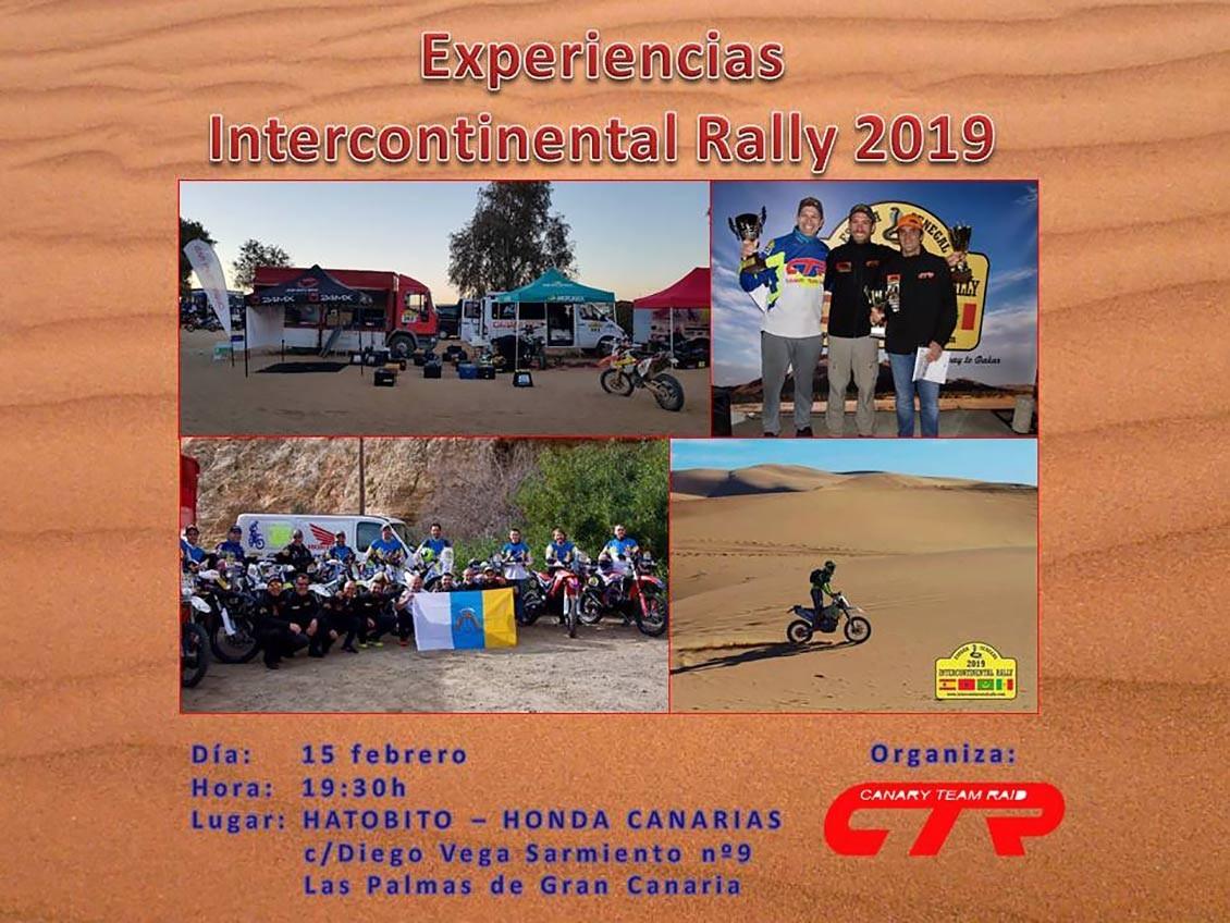 Charla del CTR tras su participación en Intercontinental Rally 2019