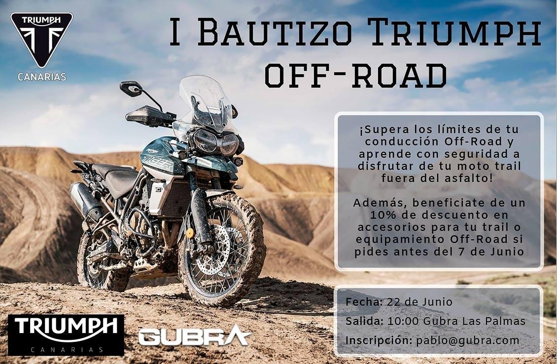 1º Bautizo Triumph Off-Road