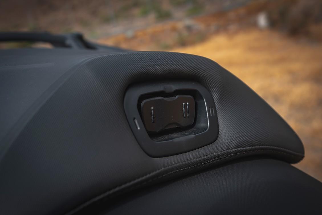 Botones para manejo de calefacción de asiento trasero