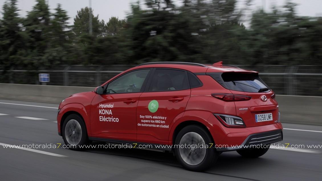 Hyundai KONA Eléctrico 790 kilómetros de autonomía