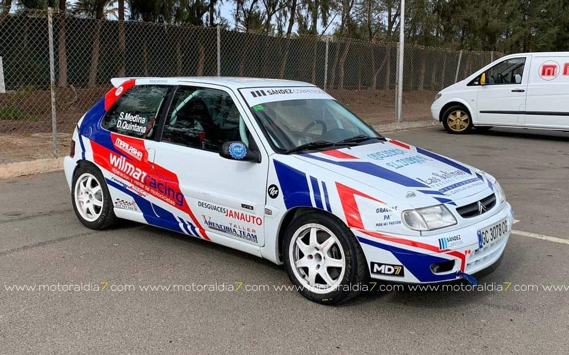 Guayasen Ortega con el Clio Rally5 de Sández Competición