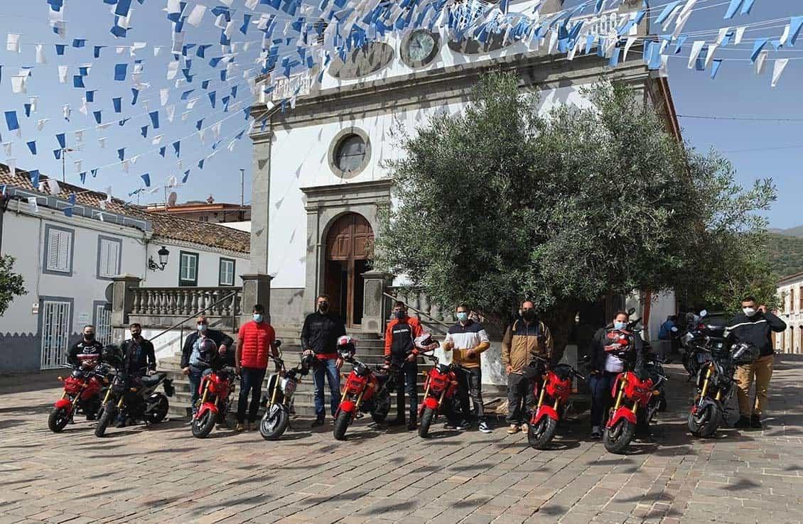 Marc Márquez felicita a Honda Canarias